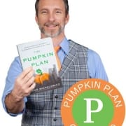 Mike M holding up Pumpkin Plan