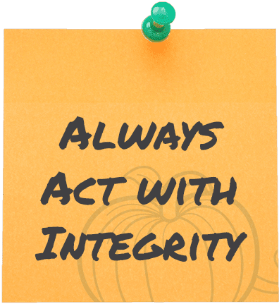 Always Act with Integrity